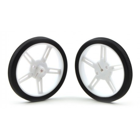 Paire de roues blanches Pololu 60x8mm