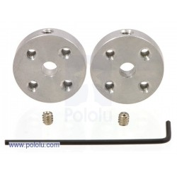 Paire de moyeux aluminium universels Pololu M3 pour arbre de 4mm