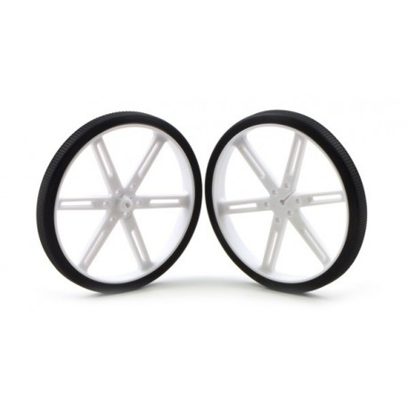 Paire de roues blanches Pololu 90x10mm