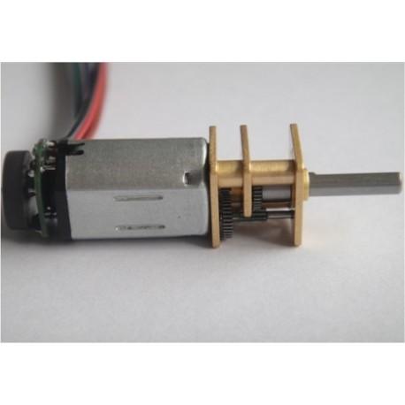 Micro-moteur à courant continu - Réducteur 100:1 - Codeur incrémental 12 CPR - Moyenne puissance